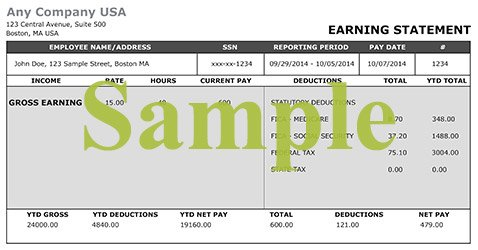 Pay Stub Calculator Check Stub Maker – Free Payroll Stub Template