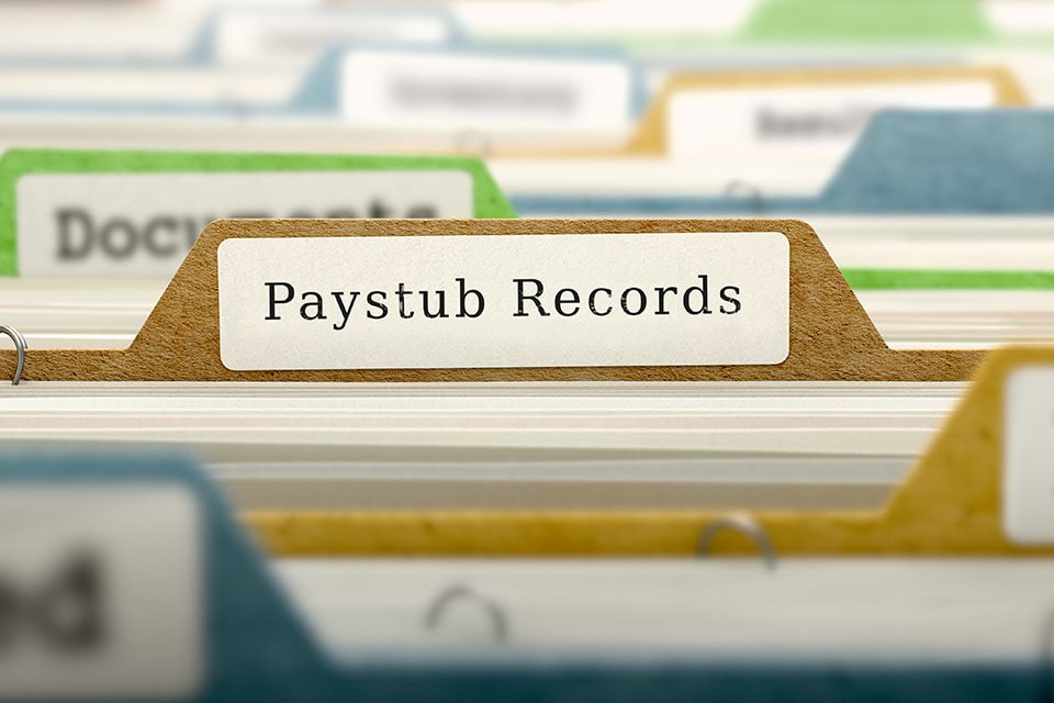Paystub Records